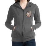 tennis in art Women's Zip Hoodie