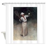 tennis in art Shower Curtain