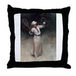 tennis in art Throw Pillow
