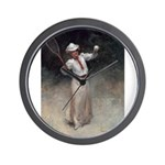 tennis in art Wall Clock
