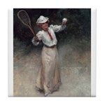 tennis in art Tile Coaster