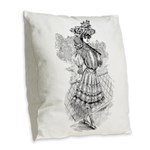 tennis in art Burlap Throw Pillow