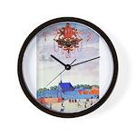tennis in art Wall Clock