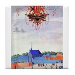 tennis in art Tile Coaster