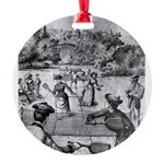 tennis in art Ornament