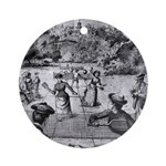 tennis in art Ornament (Round)
