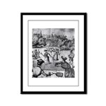 tennis in art Framed Panel Print