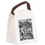 tennis in art Canvas Lunch Bag