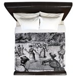 tennis in art King Duvet