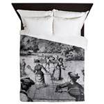 tennis in art Queen Duvet
