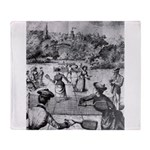 tennis in art Throw Blanket