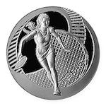 tennis in art Round Car Magnet
