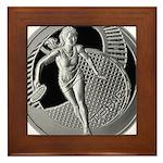 tennis in art Framed Tile