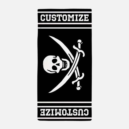 Customized Pirate Flag Beach Towel