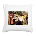 tennis in art Square Canvas Pillow