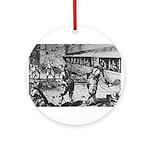 tennis in art Ornament (Round)