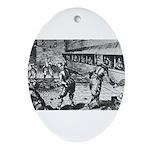 tennis in art Ornament (Oval)