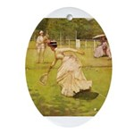 tennis in art Ornament (Oval)