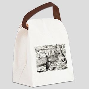 tennis in art Canvas Lunch Bag