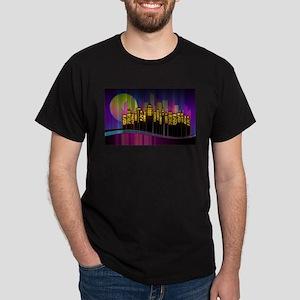 Modern Cityscape By Night T-Shirt