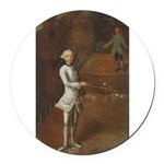 tennis in art Round Car Magnet