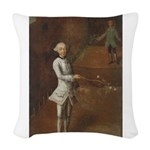 tennis in art Woven Throw Pillow