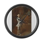 tennis in art Large Wall Clock