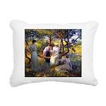 tennis in art Rectangular Canvas Pillow