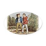 tennis in art Oval Car Magnet