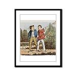 tennis in art Framed Panel Print