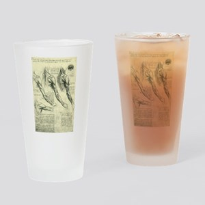 Male Anatomy by Leonardo da Vinci Drinking Glass