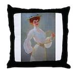 tennis in art Throw Pillow