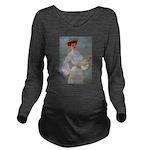 tennis in art Long Sleeve Maternity T-Shirt
