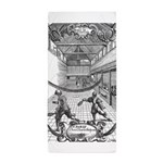 tennis in art Beach Towel