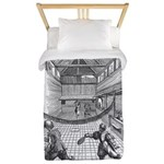 tennis in art Twin Duvet