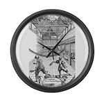 tennis in art Large Wall Clock