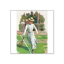 tennis in art Sticker