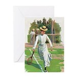 tennis in art Greeting Cards