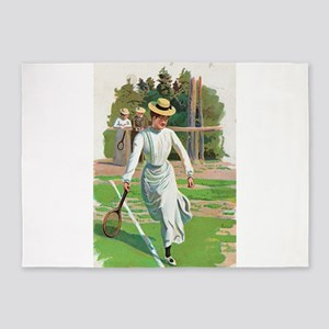 tennis in art 5'x7'Area Rug