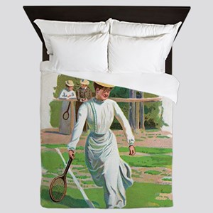 tennis in art Queen Duvet