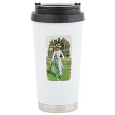 tennis in art Travel Mug