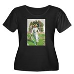 tennis in art Plus Size T-Shirt