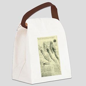 Male Anatomy by Leonardo da Vinci Canvas Lunch Bag