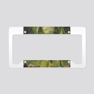 tennis in art License Plate Holder