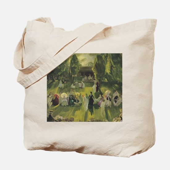 tennis in art Tote Bag