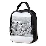 tennis in art Neoprene Lunch Bag