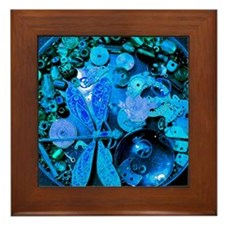 Blue Steampunk Dragonfly Framed Tile