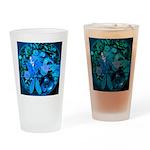 Blue Steampunk Dragonfly Drinking Glass