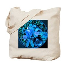 Blue Steampunk Dragonfly Tote Bag