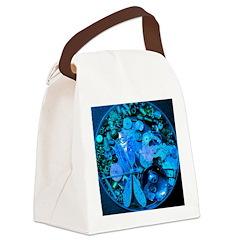 Blue Steampunk Dragonfly Canvas Lunch Bag